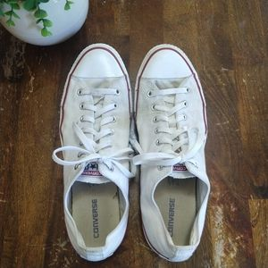Converse All Star White Low Top Chucks, Size 13